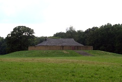 Reconstructed Mound F and temple structure