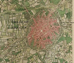 Bruges on the Ferraris map (around 1775)