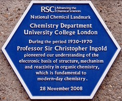 RSC commemorative plaque at University College.