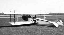 "A JN-4 C227 ""Canuck"" (USAAS #39158) operated by the US Air Army Air Service in 1918, is now restored and on display at the Canada Aviation and Space Museum."