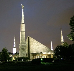 The Dallas Texas Temple of The Church of Jesus Christ of Latter-day Saints