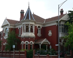 Queen Anne styled mansion located in South Yarra, Victoria.