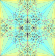 A fractal generated by a finite subdivision rule for an alternating link