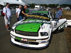 A Ford Mustang FR500S which competes in the Mustang Challenge