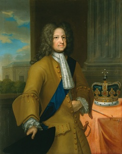1720s portrait of George by Georg Wilhelm Lafontaine