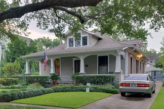 A bungalow home in Houston, Texas