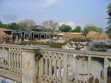 A goshala or cow shelter at Guntur