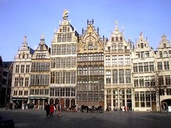 16th-century Guildhouses at the Grote Markt.