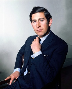 Charles in 1974, photograph by Allan Warren