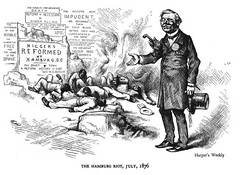 Harper's Weekly cartoon decrying the Hamburg massacre