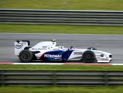 In a disappointing final year for BMW, Nick Heidfeld took the first of the team's two podiums during the season at the 2009 Malaysian Grand Prix.