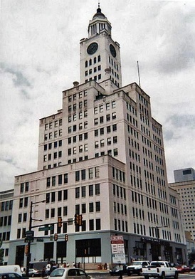 The Inquirer Building, formerly the Elverson Building, the home of the newspaper from 1924–2011