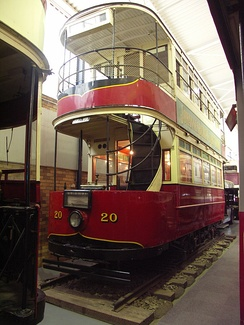 One of the last trams that were in use in Johannesburg