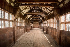 The long gallery, Little Moreton Hall, Cheshire