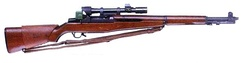 Rifle, Cal. 30, M1C with M84 telescope and rear sight protector.