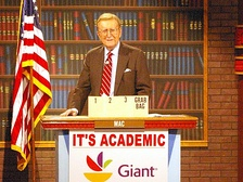 The late Mac McGarry was the original host of It's Academic until June 2011. (Photo is from c. 2009.)