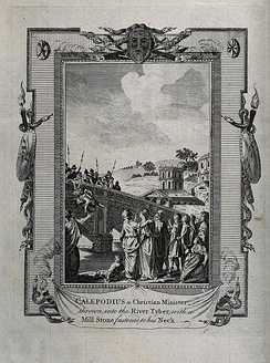 Martyrdom of Calepodius, a Christian minister. Engraving. Wellcome V0031764