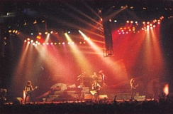 Metallica performing during its Damaged Justice Tour in 1988