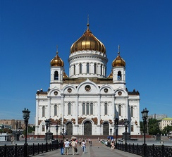 Cathedral of Christ the Saviour, demolished during the Soviet period, was reconstructed during 1990–2000