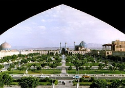 Naghsh-i Jahan square, the charbagh Royal Square (Maidan) in Isfahan, constructed between 1598 and 1629
