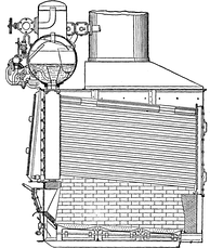 The water-tube boiler was the most efficient method of producing high-pressure steam for pre-dreadnought engines.
