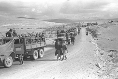 An Israeli convoy in the Negev during Operation Horev