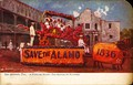 Popular float in the Battle of Flowers, San Antonio, Texas (postcard, circa 1907-1911)