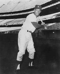Wills with the Dodgers, circa 1960