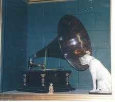 "The Nipper ""His Master's Voice"" mascot trademark was acquired as part of the Victor Talking Machine purchase.[21]"