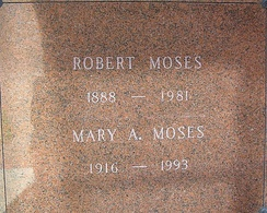 The crypt of Robert Moses