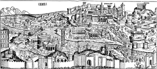 View of Rome in 1493