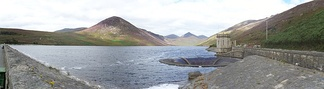 Panorama of Silent Valley Reservoir in the Mournes