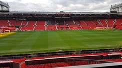 The Sir Bobby Charlton Stand (South Stand) seen from the Sir Alex Ferguson Stand (North Stand)