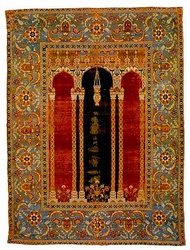 Ottoman court prayer rug, Bursa, late 16th century (James Ballard collection, Metropolitan Museum of Art)