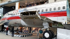 USAir 737-200 fuselage section at the Museum of Flight