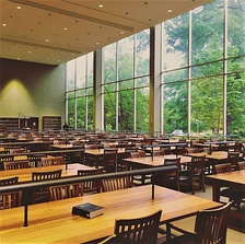 Carl E. Sanders Reading Room in the law library.