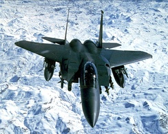 An F-15E over Iraq in 1999 for Operation Northern Watch
