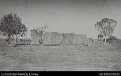 Remains of the old homestead, Wave Hill Station 1927