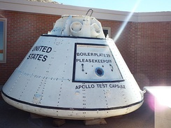 An Apollo Test Capsule is on exhibit in the Meteor Crater Visitor Center in Winslow, Arizona.