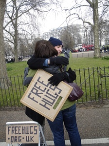 The Free Hugs Campaign has taken place several times at Speaker's Corner.