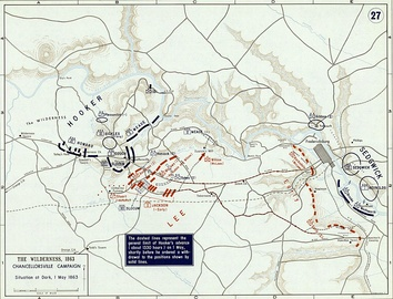 Battle of Chancellorsville, 1 May 1863 (Situation at Dark)