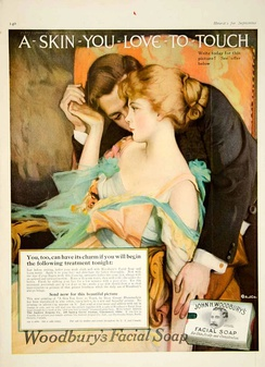 1916 Ladies' Home Journal version of the famous ad by Helen Lansdowne Resor of the J. Walter Thompson Agency