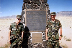 Visitors to the Trinity site in 1995 for 50th anniversary