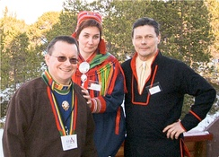 Sven-Roald Nystø, Aili Keskitalo and Ole Henrik Magga, the three first presidents of the Sami Parliament of Norway.