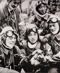 Teenage recruits for Japanese Kamikaze suicide pilots in May 1945