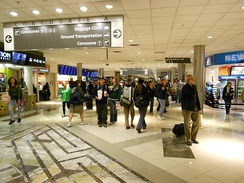 Concourse A at Hartsfield-Jackson Atlanta International Airport, the world's busiest airport