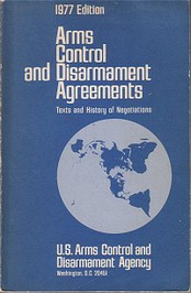 Cover of a 1977 ACDA report on the history of arms control agreements