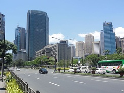 Ayala Avenue, looking westward, in the Makati Central Business District.