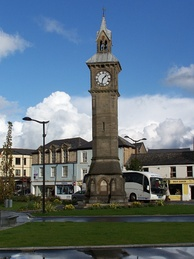 Barnstaple Clock Tower, erected in 1862 as a memorial to Prince Albert