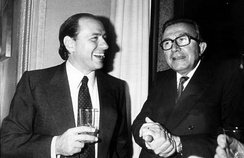 Berlusconi with Giulio Andreotti in 1984